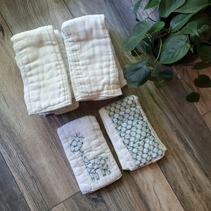Other - 10 Cotton Burp Cloths   Used Cloth Rags